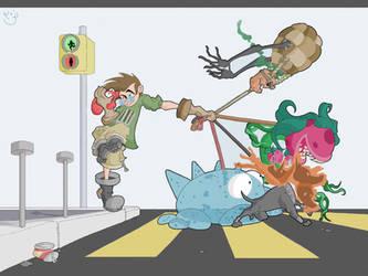 Johnny Tamer Monster Trainer by Spectral-Beanie