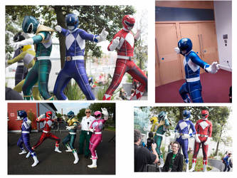 Mighty Morphin Power Rangers cosplay by Spectral-Beanie