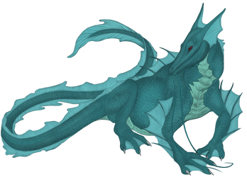 Sea Dragoness by TheWyvernAndTheFox