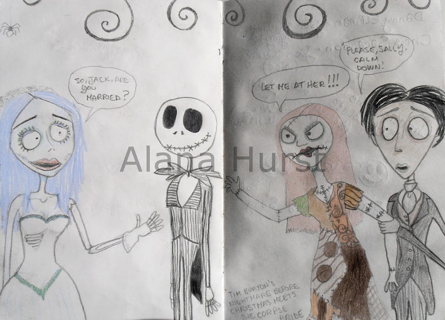 The nightmare before Christmas meets Corpse Bride by AlanaHurst on ...