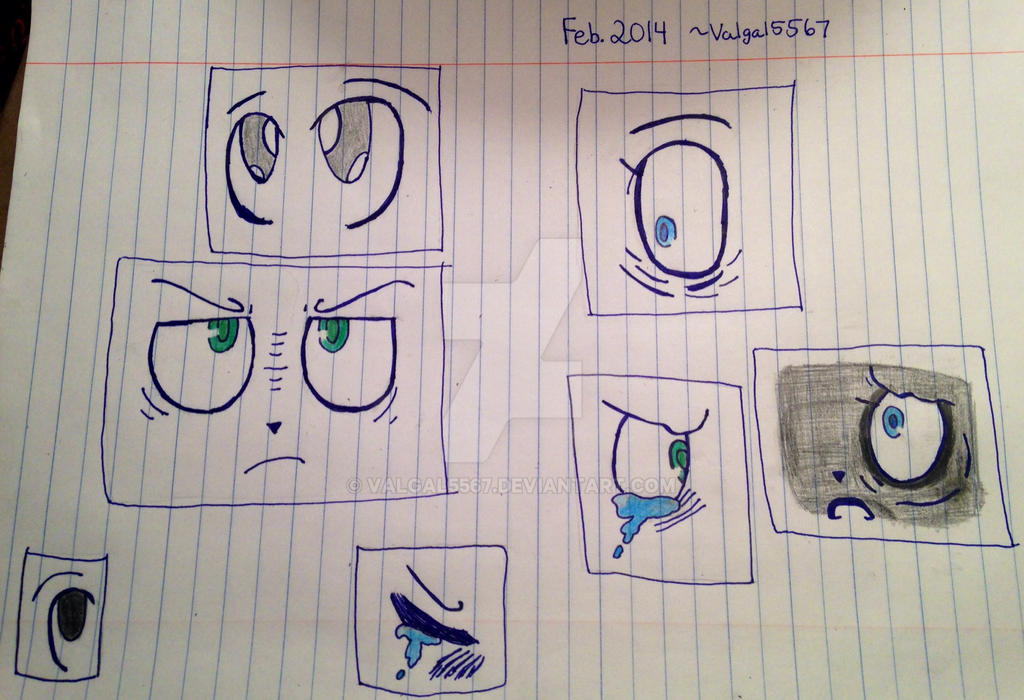 More 2014 (colored!) eye practices by valgal5567