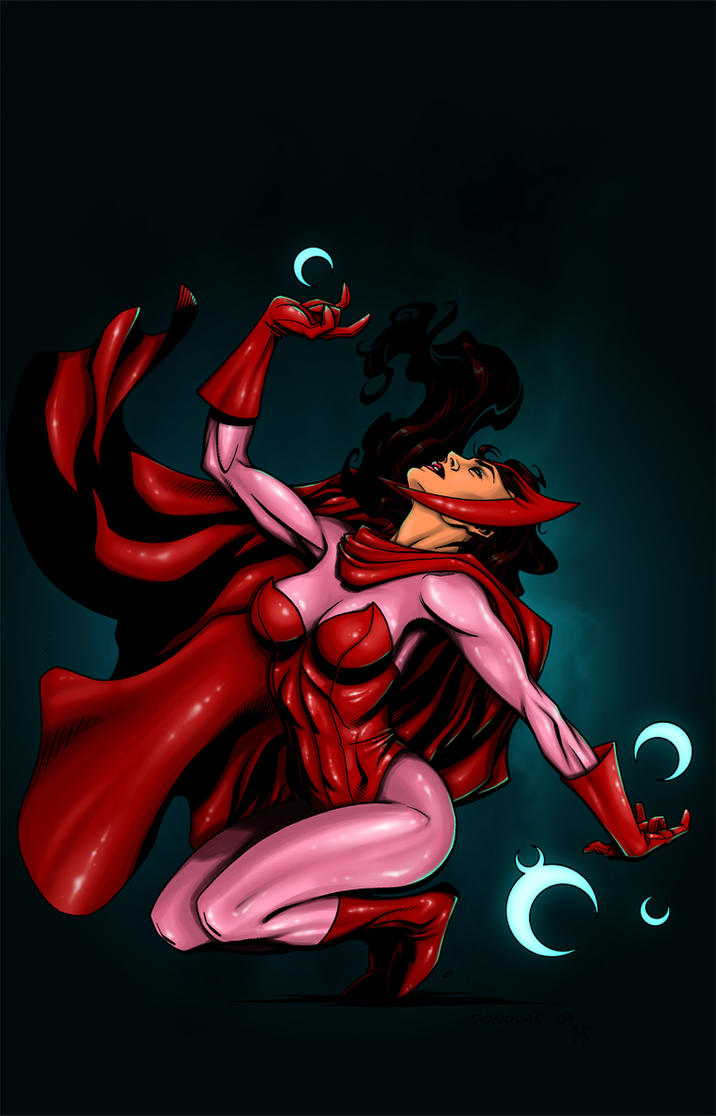 Scarlet Witch color by jussta