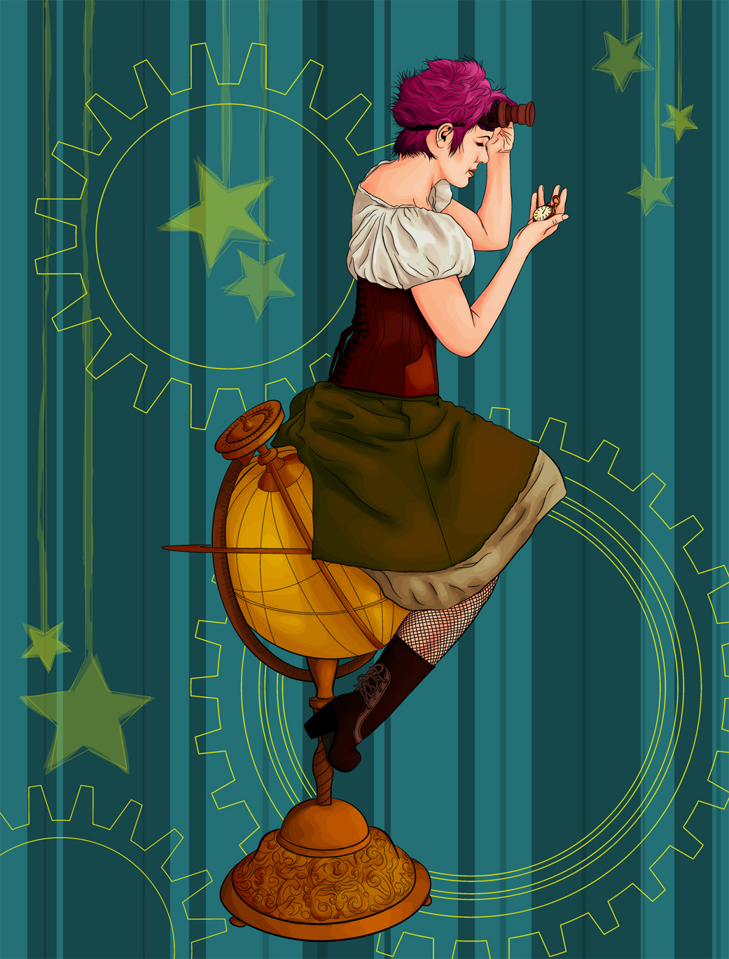 Steampunk color by jussta
