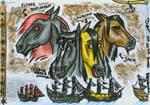 ...as horses...