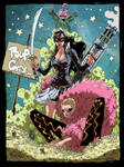 Doflamingo, Baby 5 and Tchacha Oulaop Style