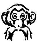 Monkey Stencil by run-n-gun