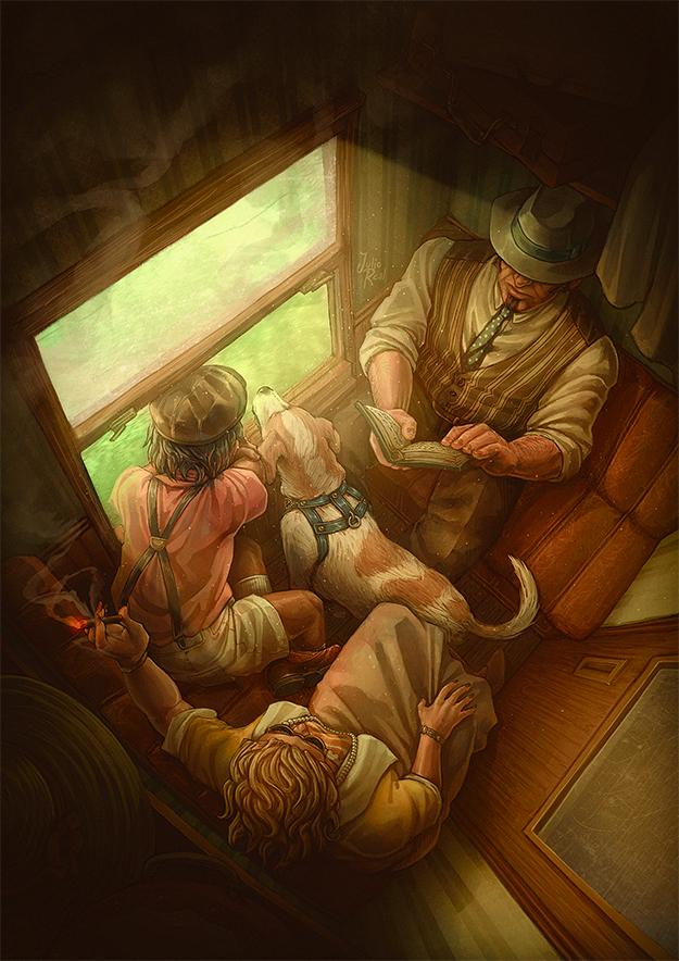 Mediodia de verano en un tren by RealNoir13