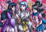 Maya, Franzy and Kay .+ ONIMUSHA SOUL version +. by LadyJunina