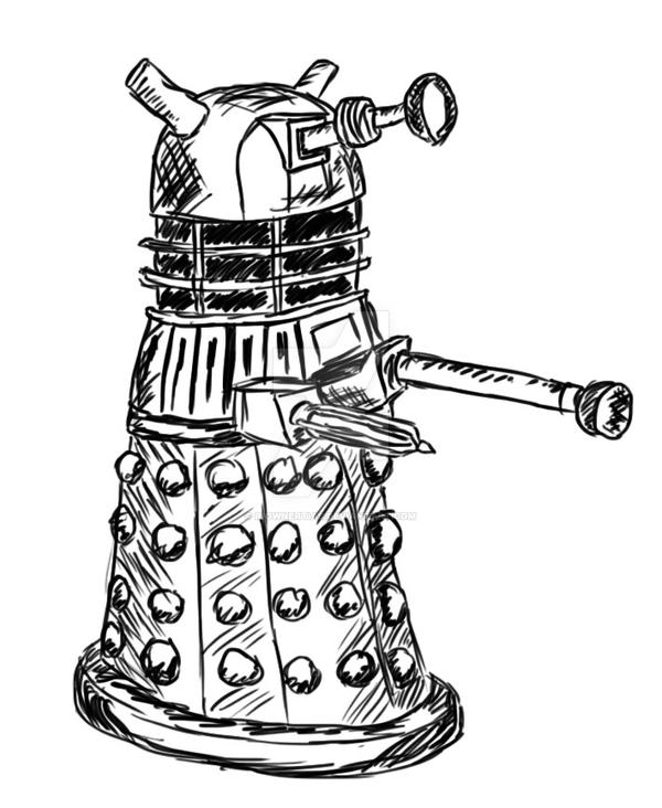 How To Draw A Dalek  Geeky  Pinterest  Drawings Dalek