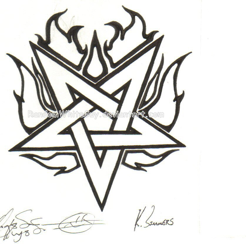 Flame Pentagram by dasatanists on DeviantArt