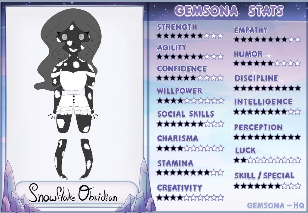 snowflake obsidian gemsona by - photo #26