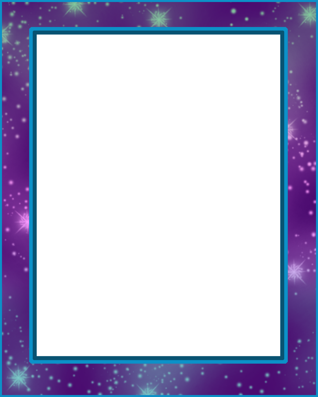 8x10 Frame Mat Purple Stars Png By Blissfullimaging On