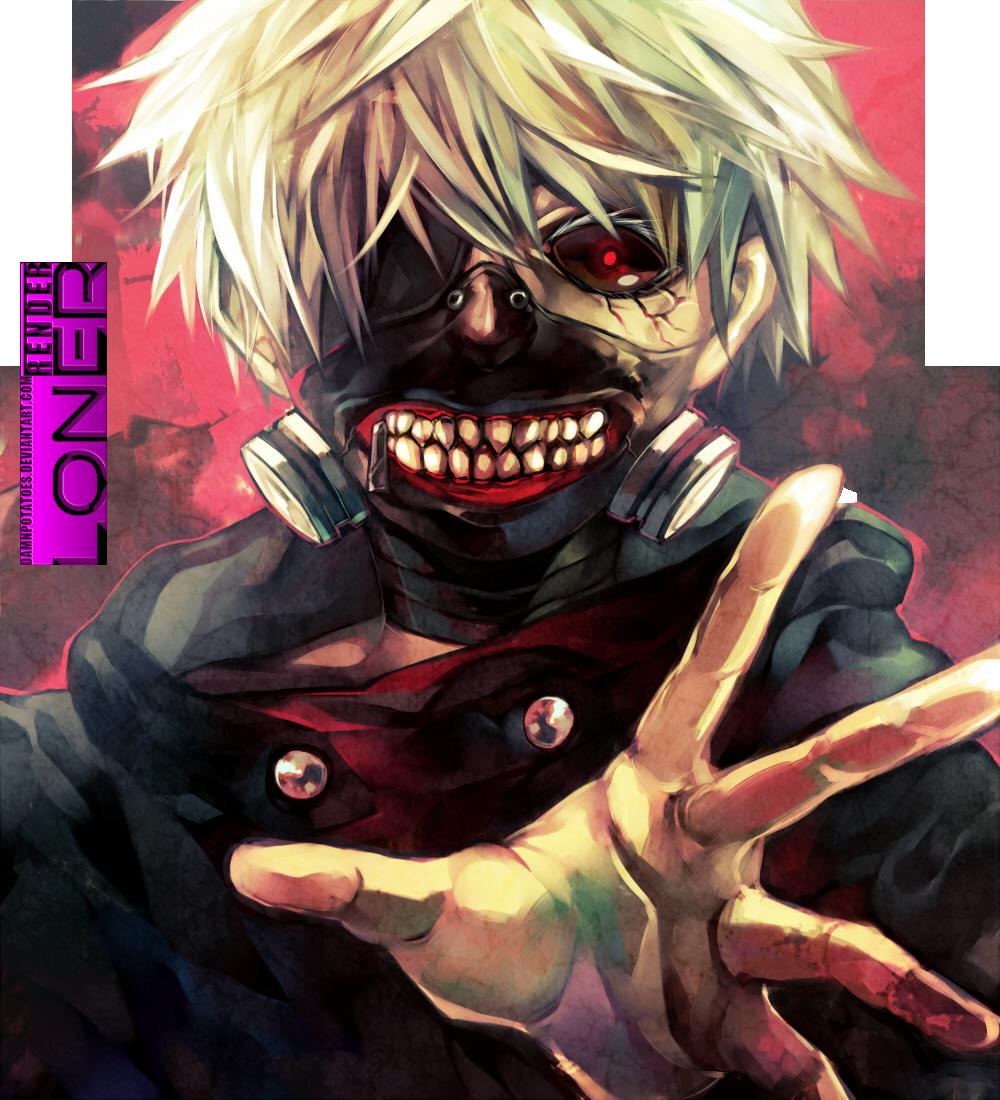 [74]  Tokyo Ghoul    Renders  _render_tokyo_ghoul__kaneki_ken_by_damnpotatoes-d804t75