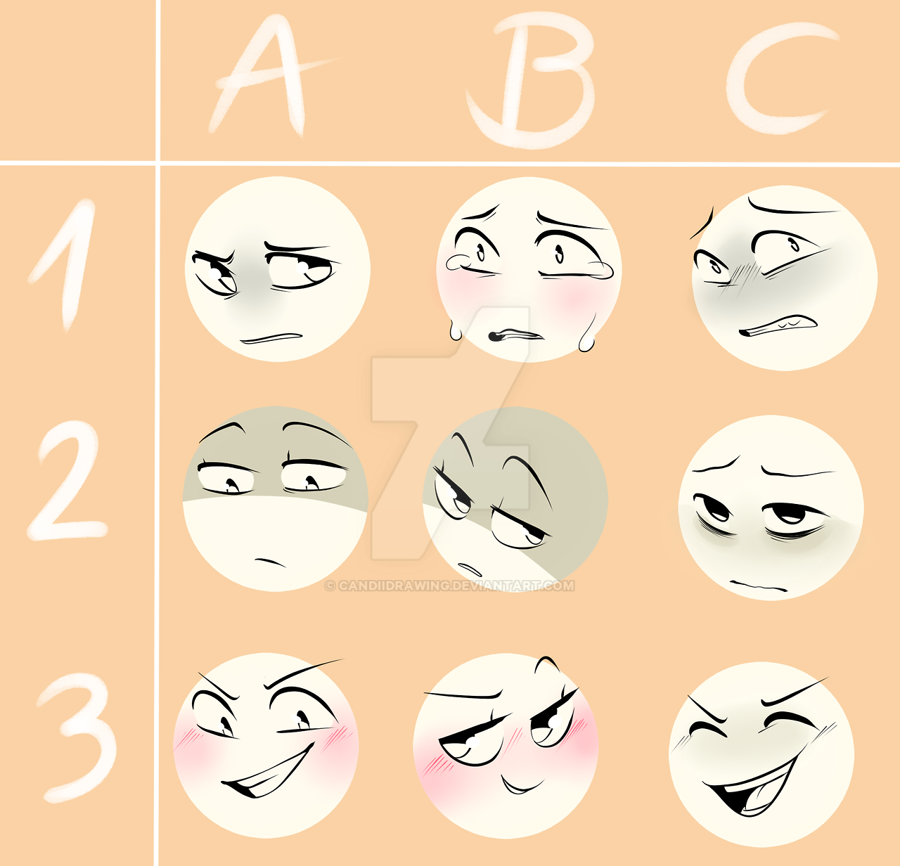 Tumblr Expression Meme by crispych0colate by CandiiDrawing ...