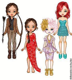 Hunger Games Girls by Mrs-Odair-Mellark