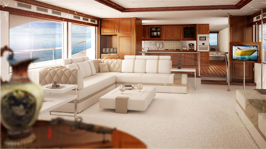 Yacht Interior By Syedamin7