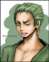 Roronoa Zoro. One Piece by HosomiAme