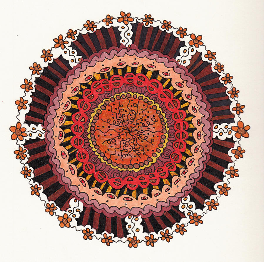 The Odd Color Mandala By Crazyruthie
