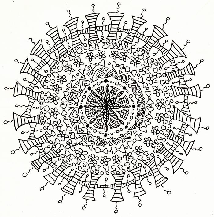 The Cute Mandala Line Art By Crazyruthie