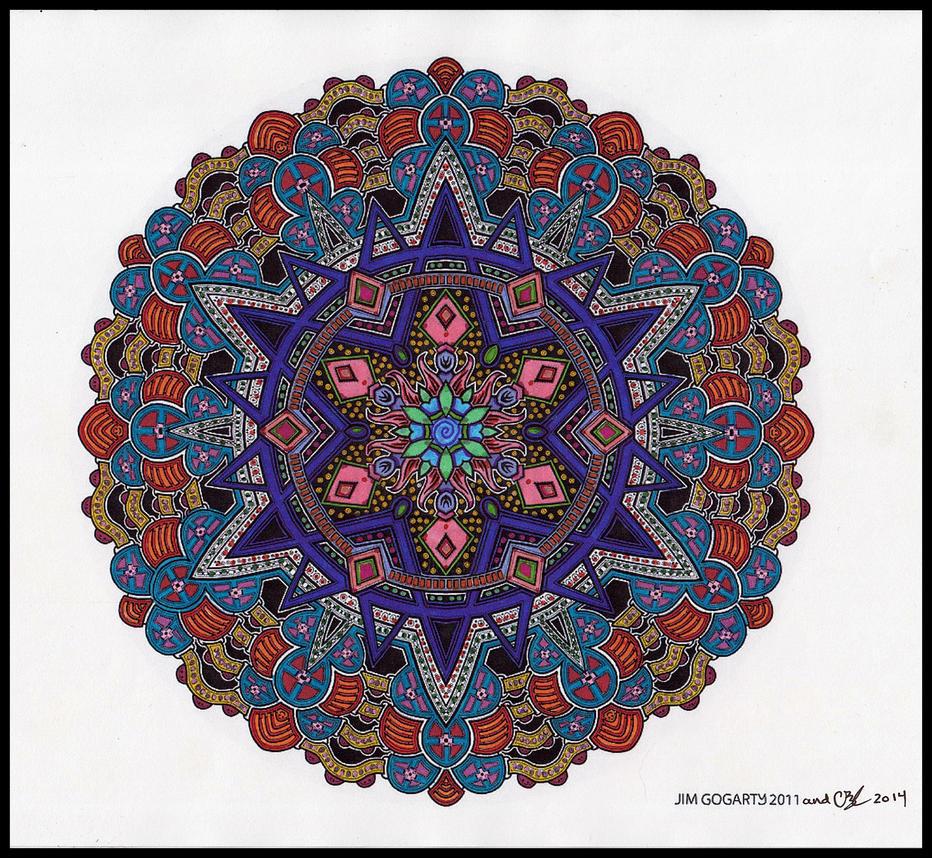 Crazy Ruthie Colors Mandala Jims Line Art By Crazyruthie