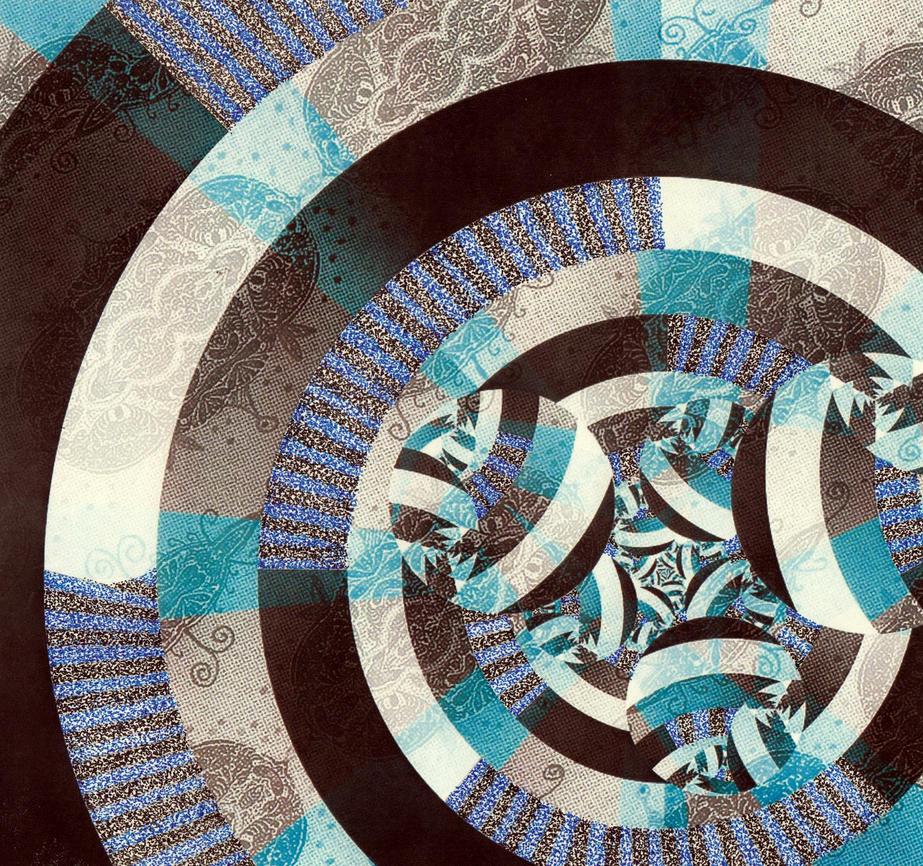 Ground Breakers Ruthie Black And Blue Pointillism by crazyruthie