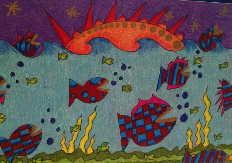 Fish Lips Postcard by crazyruthie