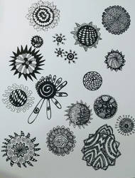 little mandala doodles by crazyruthie