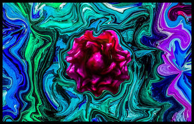 flower in a marbled garden by crazyruthie