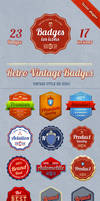 23 badges + 17 vintage iOS icons