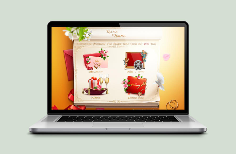 Template wedding website by TIT0