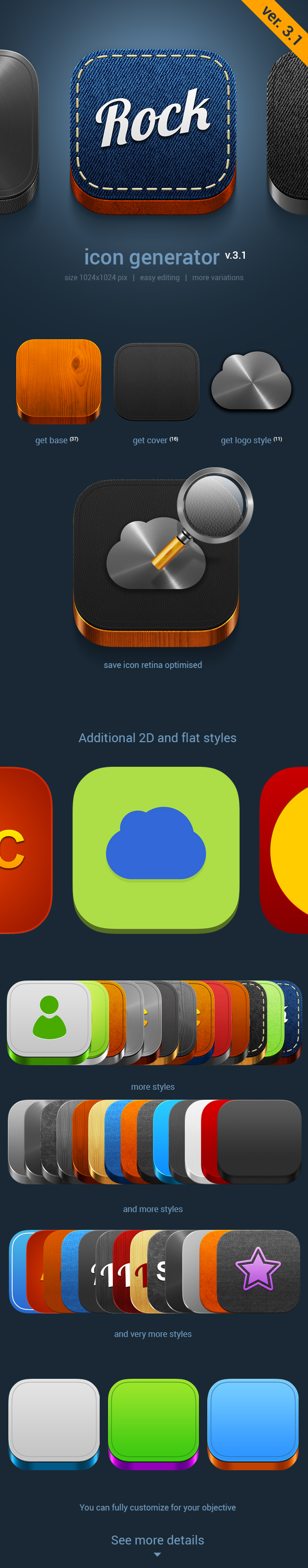IOS7 icons generator by TIT0