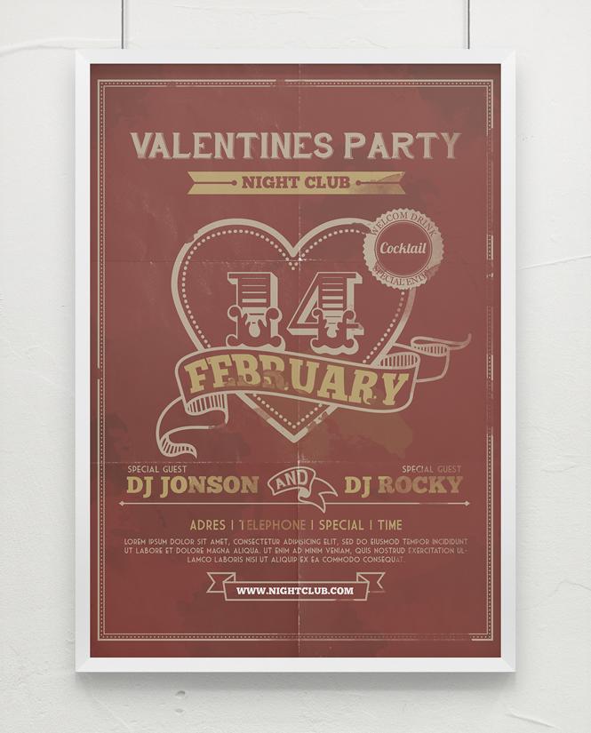valentine's day flyer by TIT0