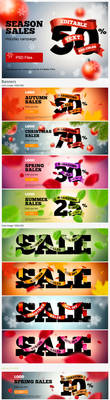 SEASON SALES banners by TIT0