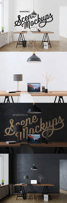 Interior workspace mockup