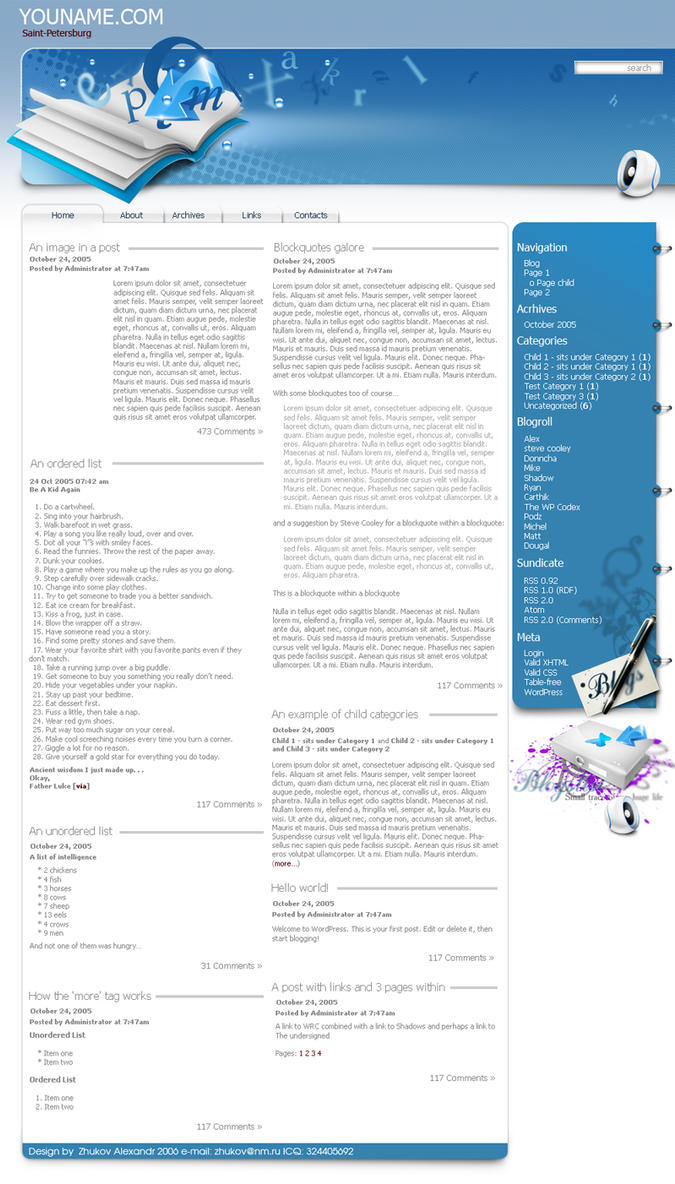 Webblogs site by TIT0