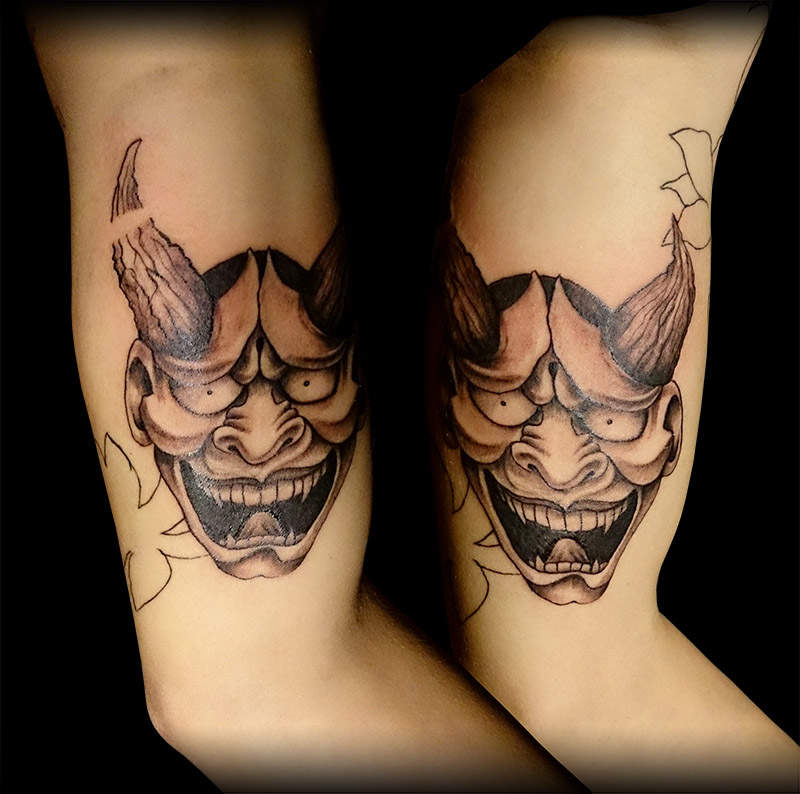 hannya mask tattoo by stevetoth89 on deviantart. Black Bedroom Furniture Sets. Home Design Ideas