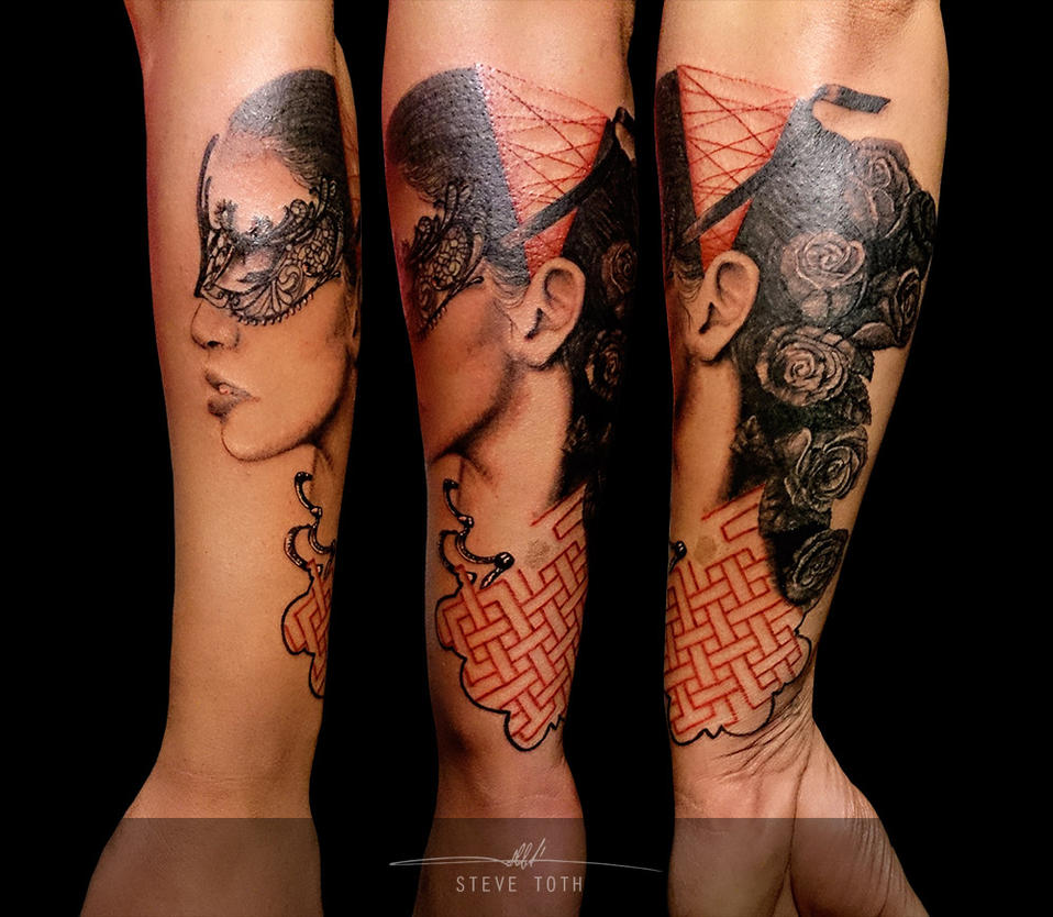Woman Masquerade Tattoo By SteveToth89