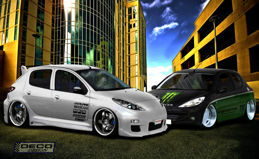 peugeot 207 tuning by dcdeco on deviantart. Black Bedroom Furniture Sets. Home Design Ideas