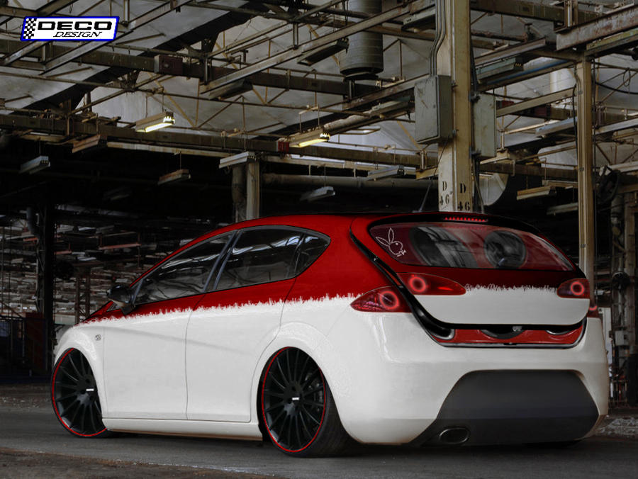 seat leon cupra tuning by dcdeco on deviantart. Black Bedroom Furniture Sets. Home Design Ideas