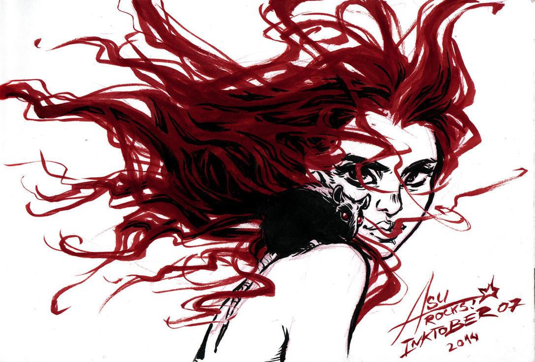 InkTober 07 - Wind by bewareitbites