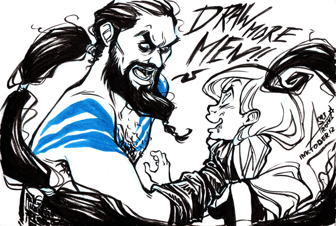 InkTober 12 - Angry Drogo by bewareitbites