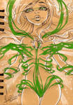 InkTober 15 - Rhona's Transformation Part 2