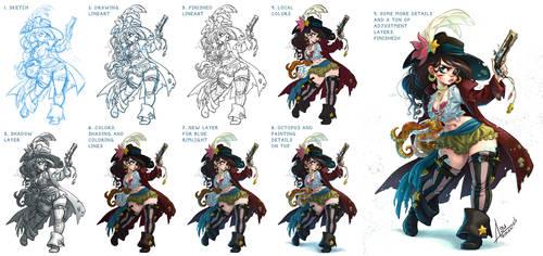 The mermaid pirate - making of
