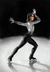 Johnny Weir on Ice by Lenka-Slukova