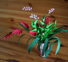 Paper floral arrangement by Lenka-Slukova
