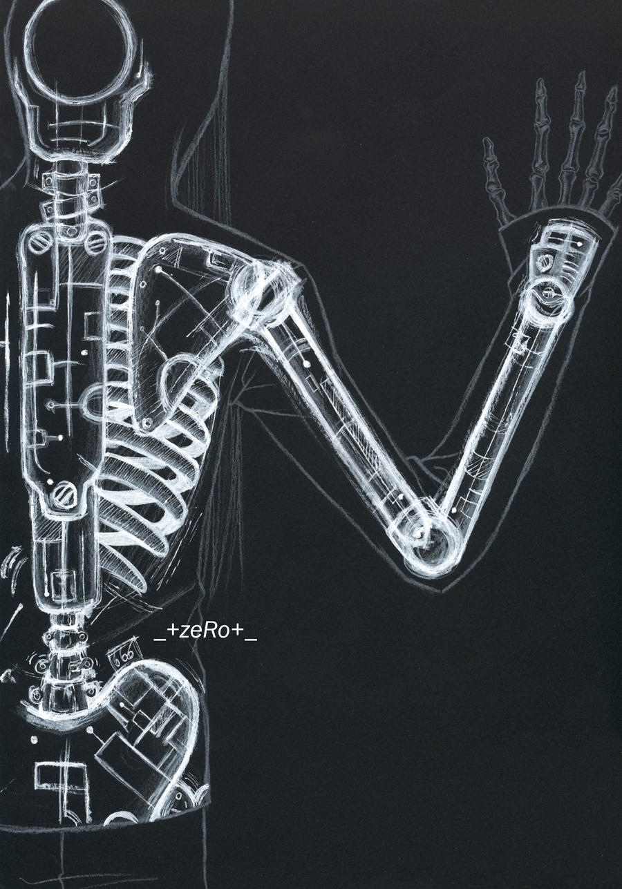 mechanical skeleton by zero0810