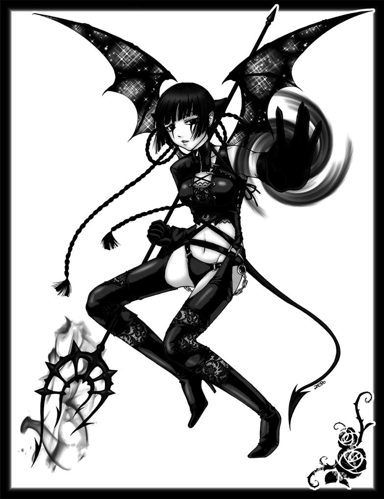 female winged demon by zero0810