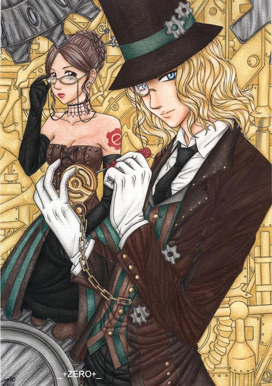 Steampunk Goth by zero081090