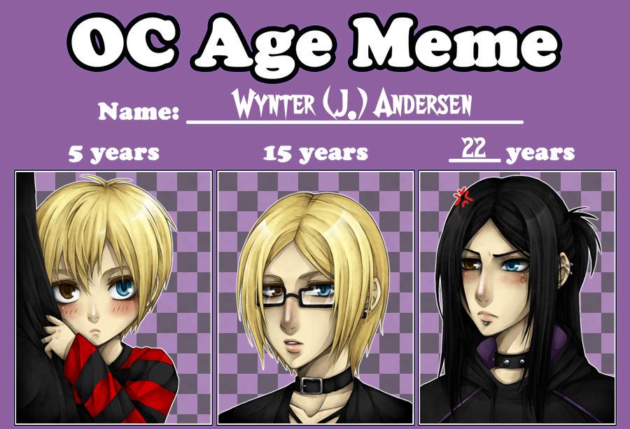 OC Age Meme - Wynter Andersen by zero0810