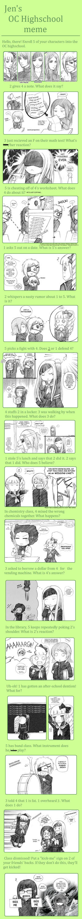 OC Highschool Meme by zero0810
